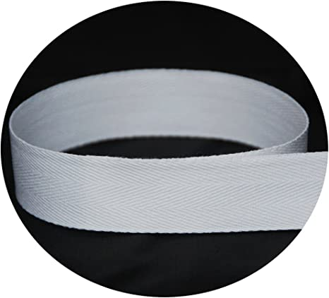 by The Ribbon Factory 72 Yards - USA Made 1//2 Black Cotton Twill Tape Multiple Widths Available