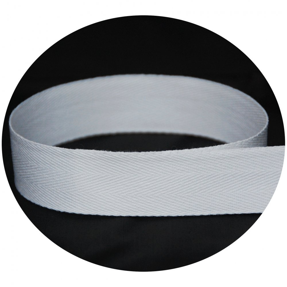 USA Made 5/8'' White Cotton Twill Tape - 720 Yards - Medium Weight - (Multiple Widths & Yardages Available)
