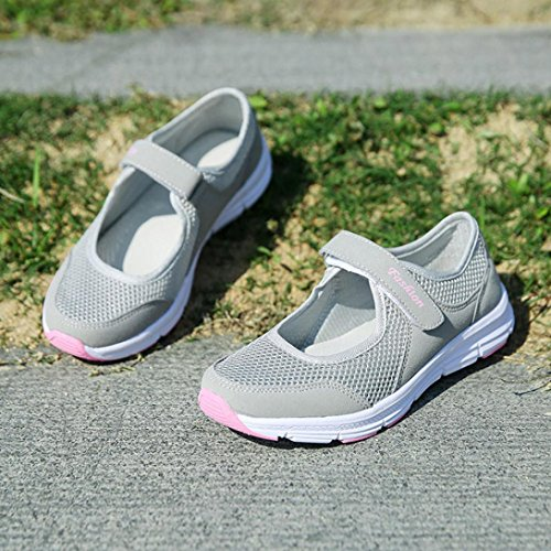 Running Shoes Sandals Shoes Women IEason Anti Sports Gray shoes Fitness Summer Slip Fashion wznwxOtgqC