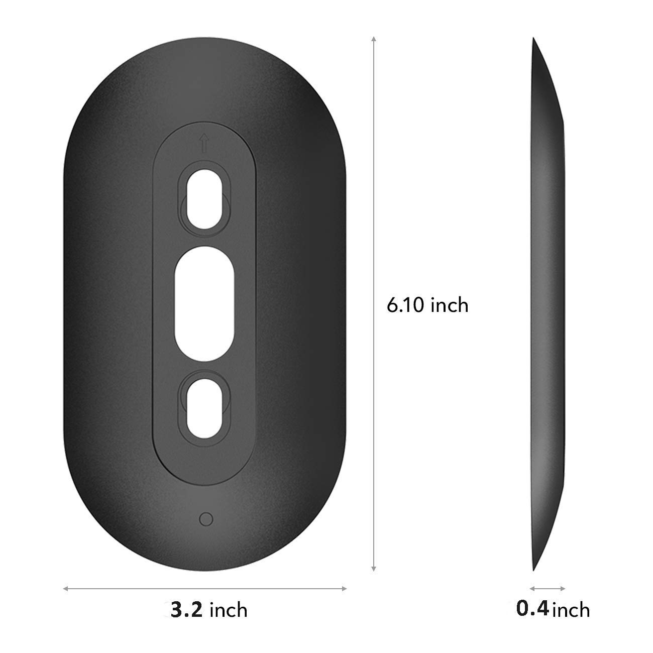 Plastic Wall Mount Bracket Cover Wedge Kit works with Original 15/°Adjustable Wedge Black Gelink Wall Plate with L25/°//R25/°Wedge for Nest Hello Doorbell