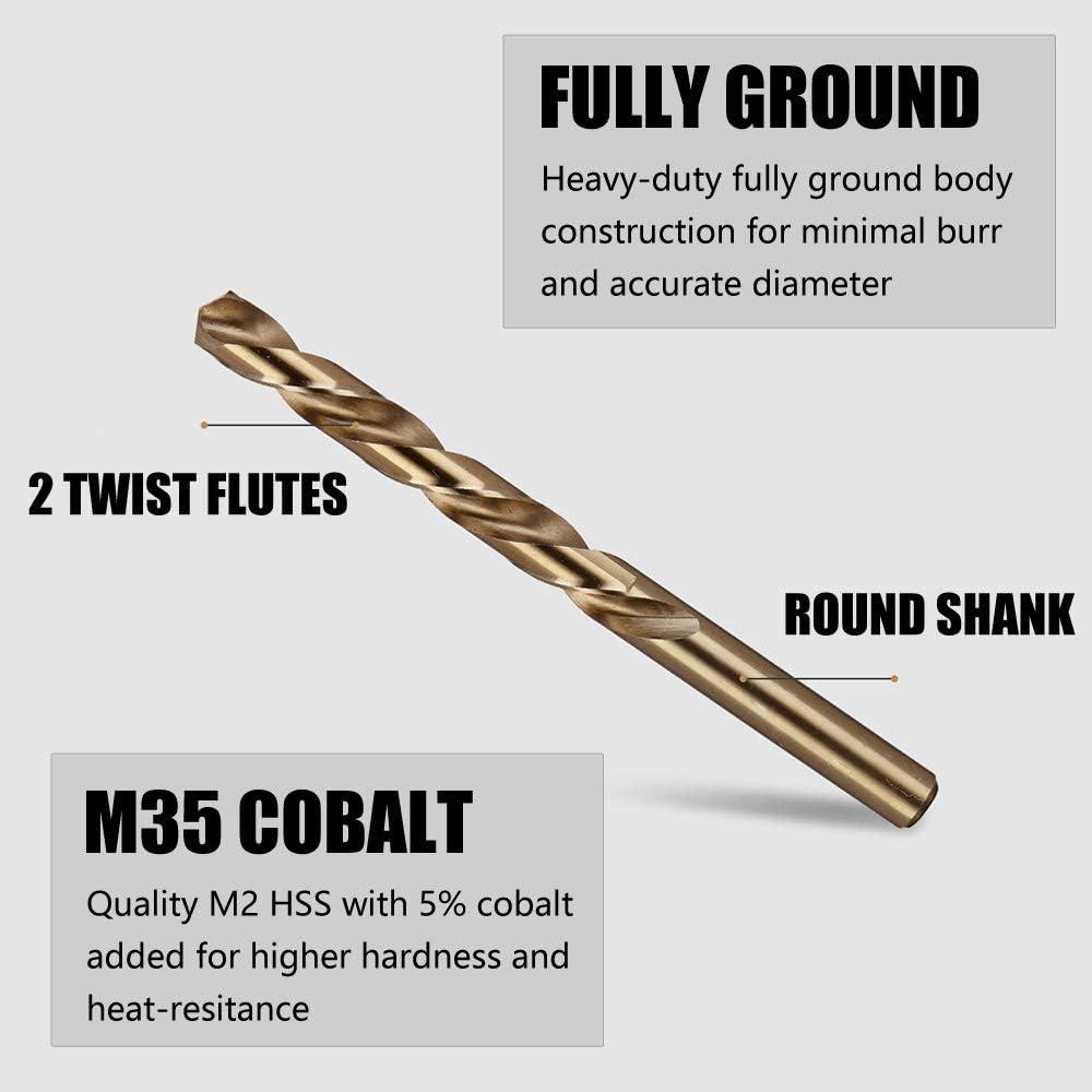 7.5mm HSS M2 GROUND JOBBER DRILL BIT SPLIT POINTS TWIST FLUTE BITS DIN338 1mm