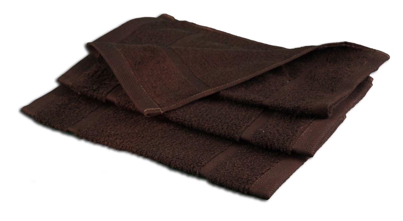 Gözze Sylt - Toalla de ducha (4 unidades), algodón rizado, chocolate, 30 x 30 cm 7881-71-A2