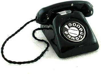 Maison de poupées = noir téléphone