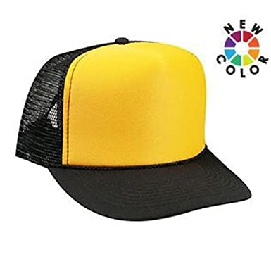 Product of Ottocap Polyester Foam Front Five Panel High Crown Mesh Back Trucker  Hat -Blk d568551a593