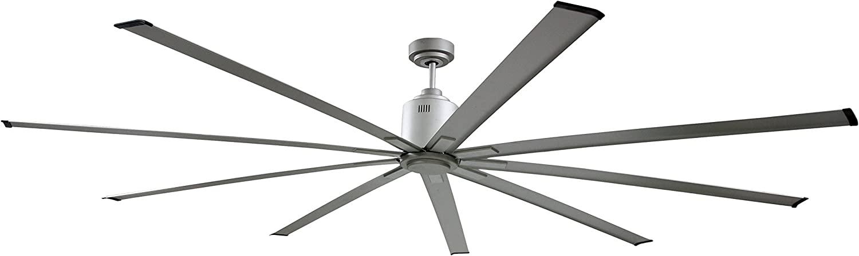 Big Air ICF72UPS Industrial Ceiling Fan, 6-Speed Indoor Metallic Fan, 72-Inch, Silver