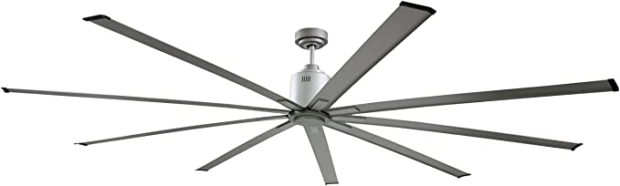 Big Air 72 Industrial Indoor Outdoor Ceiling Fan 6 Speed With Remote Silver Amazon Com