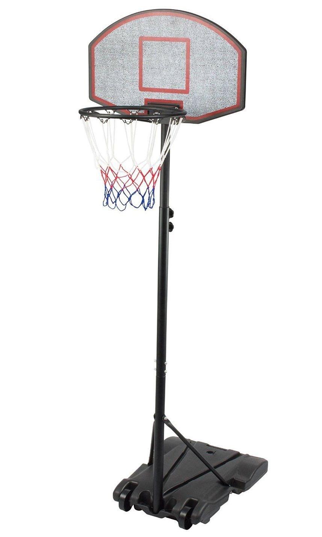 IUNNDS- Canasta de baloncesto portátil con ruedas, ajustable de 165 a 210 cm, hombre Unisex mujer Infantil, negro
