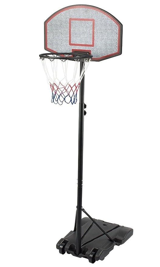 16 opinioni per Iunnds, canestro da basket portatile con ruote, altezza regolabile 165- 210 cm,