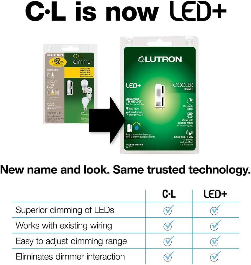 Lutron Lyneo LX-3PLSL-WH white 3 Way 1000W Switch Incandescent Halogen New