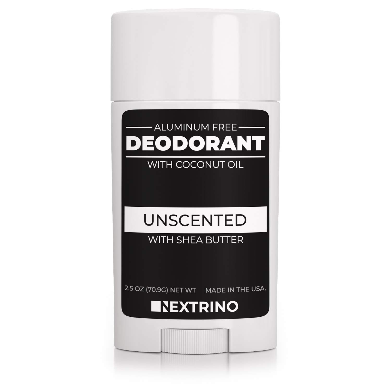 All Natural Aluminum Free Deodorant - Made in the USA with Coconut Oil & Essential Oils for Women and Men - Vegan, Non-GMO & Organic Ingredients (Unscented)