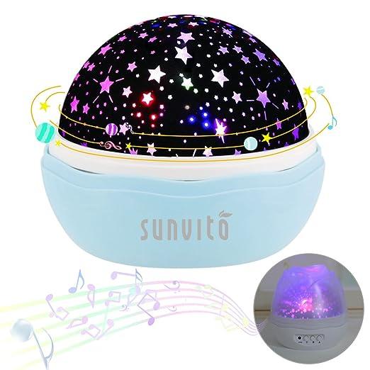 Sunvito Estrella Noche Proyector de la Lámpara con 12 Tipos Luz ...