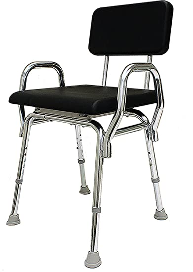 Amazon.com: Eagle Health 32064 Padded Shower Chair with Back and ...