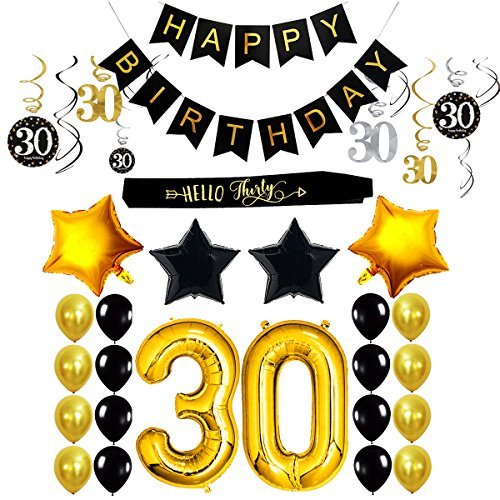 30th birthday decorations gifts party supplies for him her men