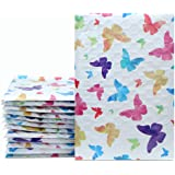 "Mailer Plus #000 4x8"" 50pcs Colorful Butterfly Designer Poly Bubble Mailers Padded Envelopes Boutique Custom Bags"