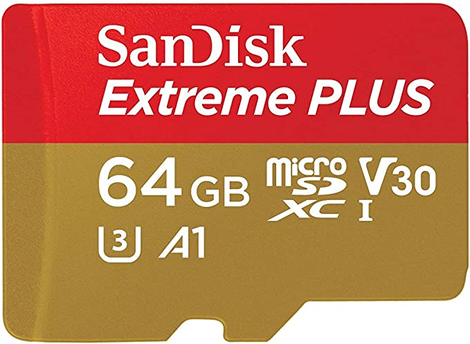 U3 Renewed 4K UHD SanDisk 64GB Extreme SDXC UHS-I Card SDSDXV6-064G-GNCIN V30 SD Card C10