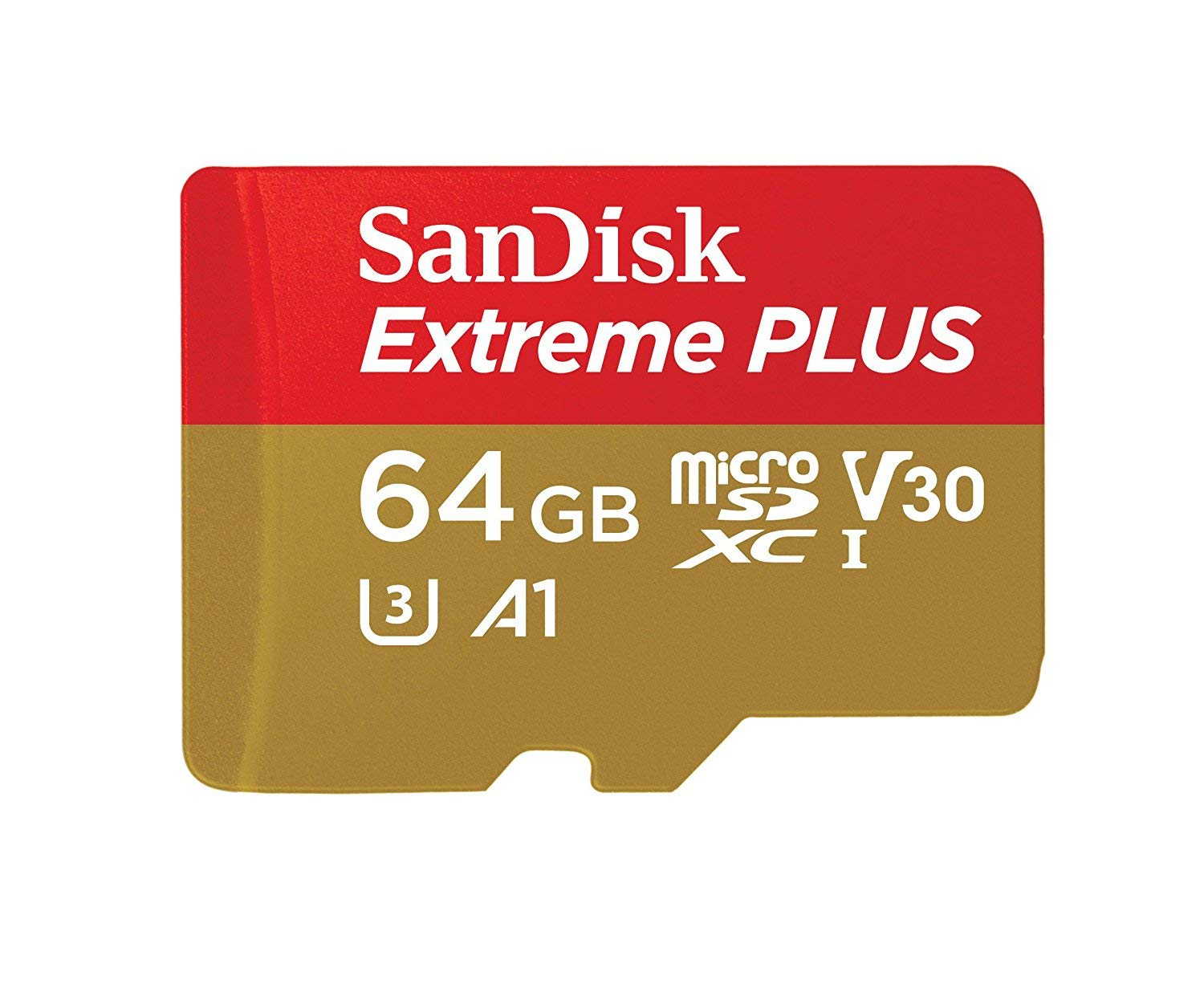 SANDISK EXTREME PLUS MICRO SDXC UHS-I 64GB 100MB/s MEMORY CARD WITH ADAPTER