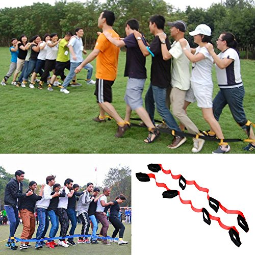 crayfomo 4 Legged Race Bands Outdoor Game for Kids Adults Birthday Team Party Games with Carry Bag