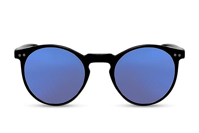 nuovo concetto 80481 59f49 Cheapass Occhiali da Sole Rotondi Lenti Blu