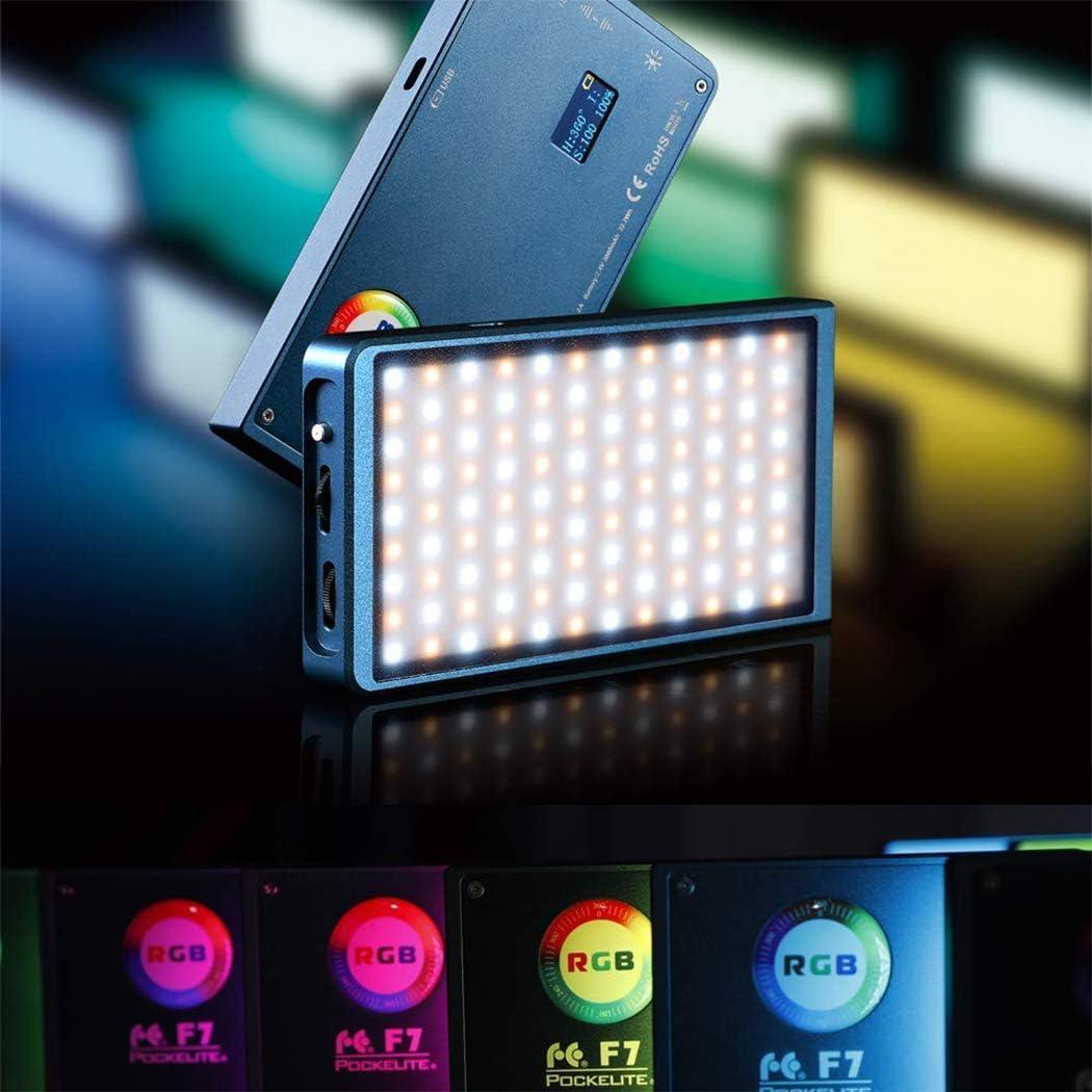 einstellbares Haltesystem mit eingebautem Akku Falcon Eyes F7 RGB-LED-Videoleuchte dimmbare 2500K-9000K-DSLR-Taschenkamera mit Softbox und Wabengitter und 16 anwendbaren Situationen
