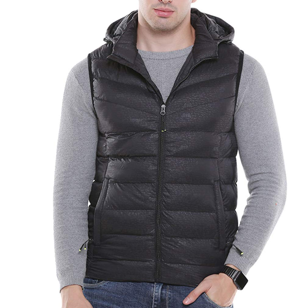 emansmoer Mens Lightweight Quilted Insulated Heated Gilet Heating Winter Outdoor Vest Bodywarmer Sports Skiing Snow Waistcoat