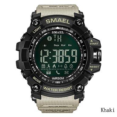 Bluetooth reloj inteligente deporte reloj recordatorios reloj deportes al aire libre electrónico reloj apoyo IOS,