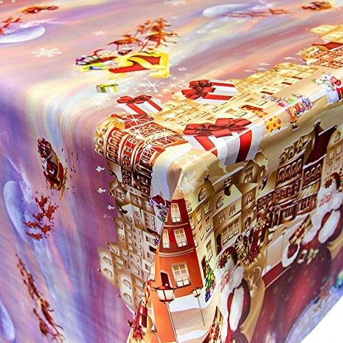 Wachstuch Tischdecke Meterware Motiv Weihnachten Tannenbaum nach Maß Länge wählbar