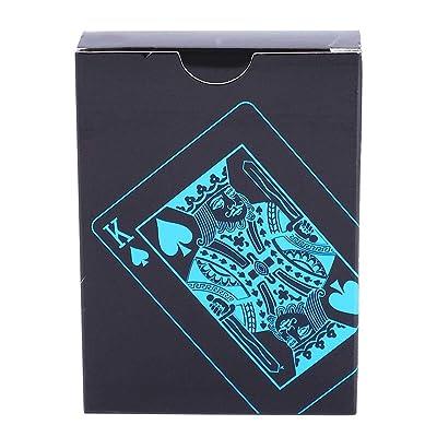 Dilwe Fichas de Póker Naipes Cartas de Mazo de Póquer a Prueba de Agua Herramienta de Trucos de Pokers Creativa para Apoyos Mágicos Juegos de Cartas: Deportes y aire libre