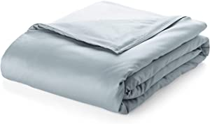 Pure Bamboo – Twin Weighted Blanket Cover 48x72 – 100% Organic Bamboo Viscose Blanket Duvet Cover with 8 Snaps, Hidden Zipper, Machine-Washable, Lightweight, Breathable (48x72, Sterling Blue)