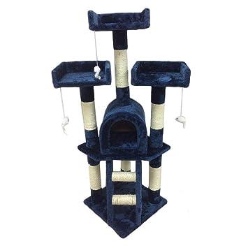 ICOCO Rascador de Torre de árbol de Gato de 115 cm, para Mascotas, Gatitos