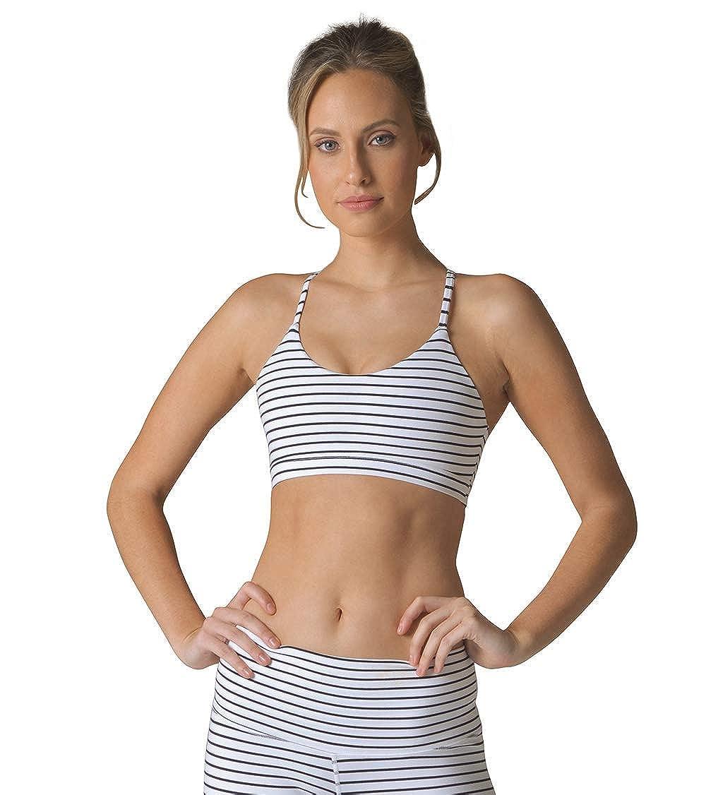 White//Black Stripe Glyder Energy Bra