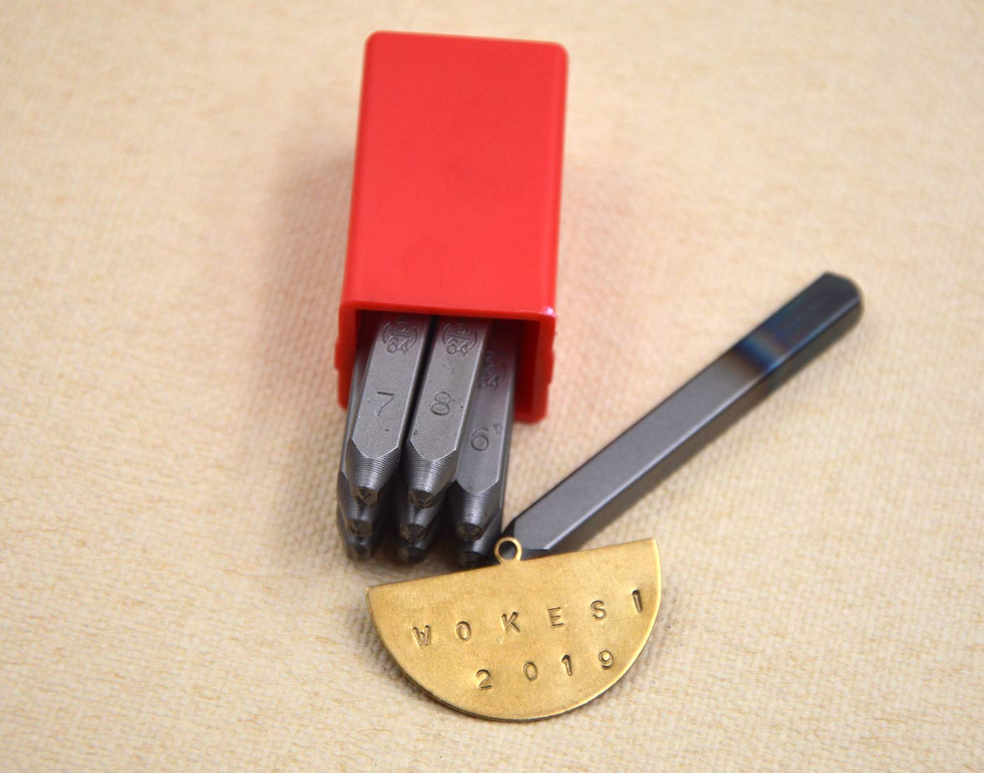 4mm Wokesi 5//32 Tall Letter Stamp Punch Set for Jewel Making//Steel Stamp Die Punch//Wood//Leather 4MM