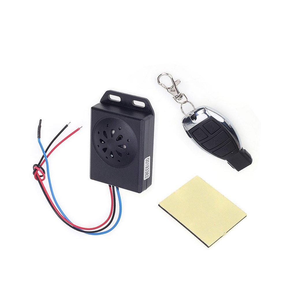 Shsyue® DC 12V Horn Dezibel: ≥ 125dB Universal Motorrad Alarm System Alarmanlage mit Fernbedienung Shsyue®