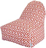 Majestic Home Goods Kick-It Chair, Aruba, Orange
