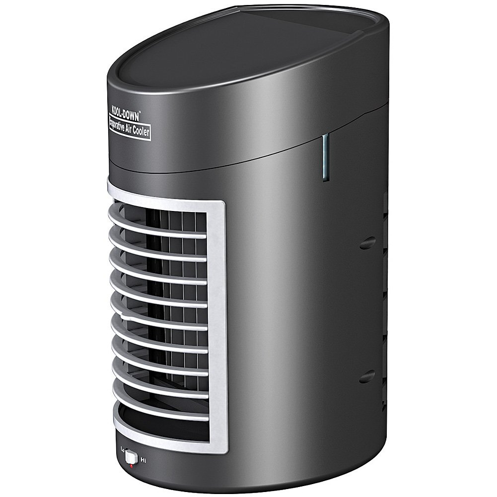 Johnson Smith Co. Kool Down Evaporative Air Cooler, Portable with Quiet 2-Speed Fan Plus Adapter