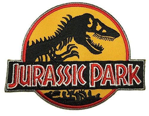JURASSIC WORLD PARK Logo Dinosaur Raptor Zoo Movie Kid Baby Jacket T shirt Patch Sew Iron on Embroidered Symbol Badge Cloth Sign Costume By Prinya -