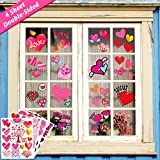 home office layout Ivenf Valentines Day Decorations Heart Window Clings Decor, Kids School Home Office Large Valentines Hearts Accessories Birthday Party Supplies Gifts, 4 Sheet 70pcs