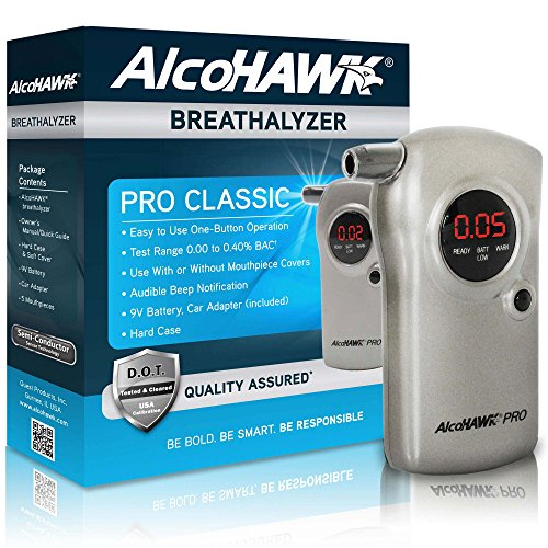 AlcoHAWK PRO: Professional Edition Digital Breathalyzer Alcohol (Alcohawk Pro Digital Breath Alcohol Detector)