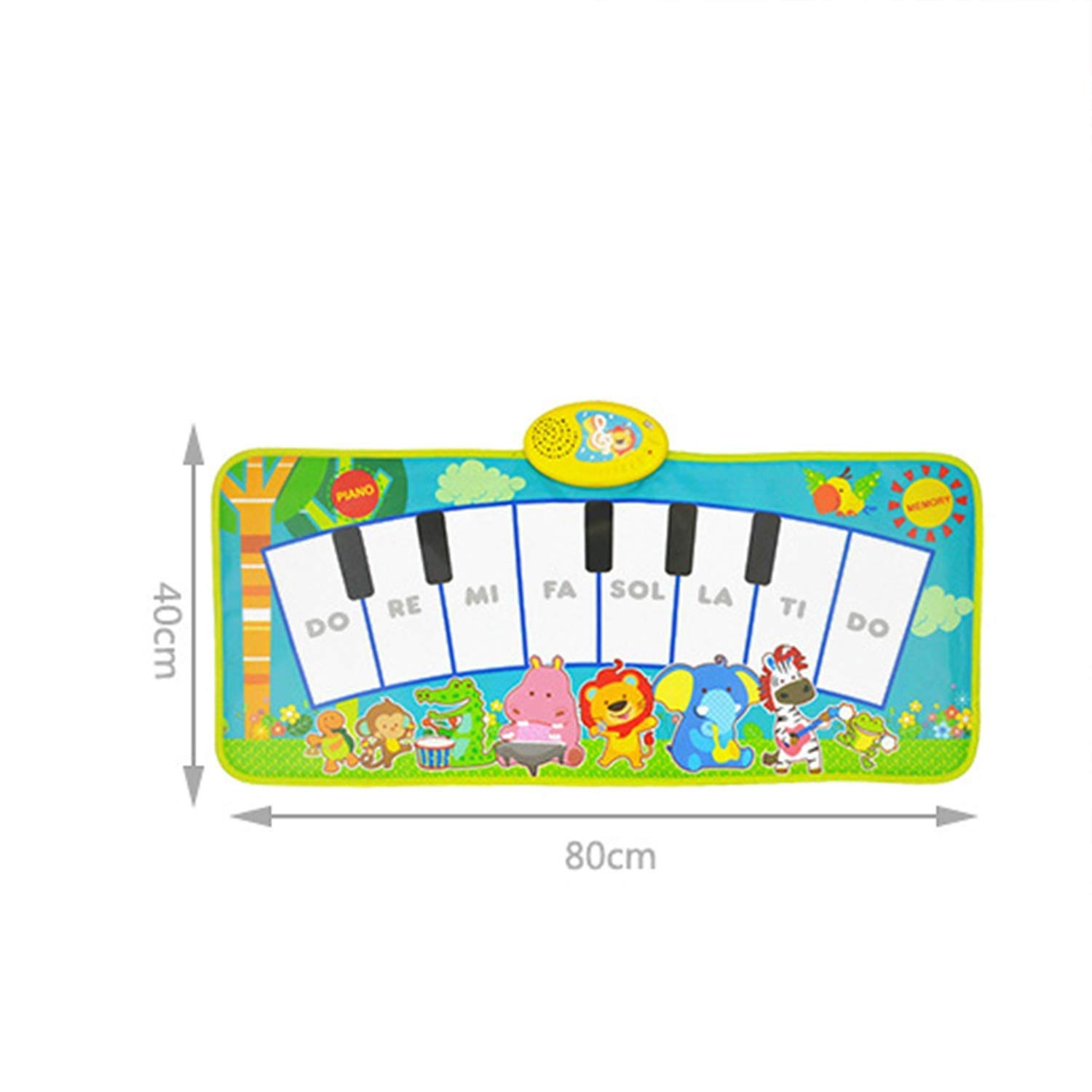 Sunny Creative Piano Game Pad, Children's Room Decoration Early Education Toy Music Lamp Crawling Mat Multi-Function Modern Fashion (Color : A) by Sunny (Image #2)