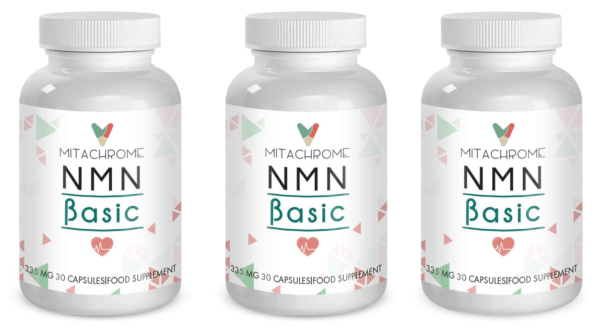 (NNM) β- Nicotinamide Mononucleotide 125mg's + 200mg's CoQ10 + 10mg 's Policosanol (3 Bottles)