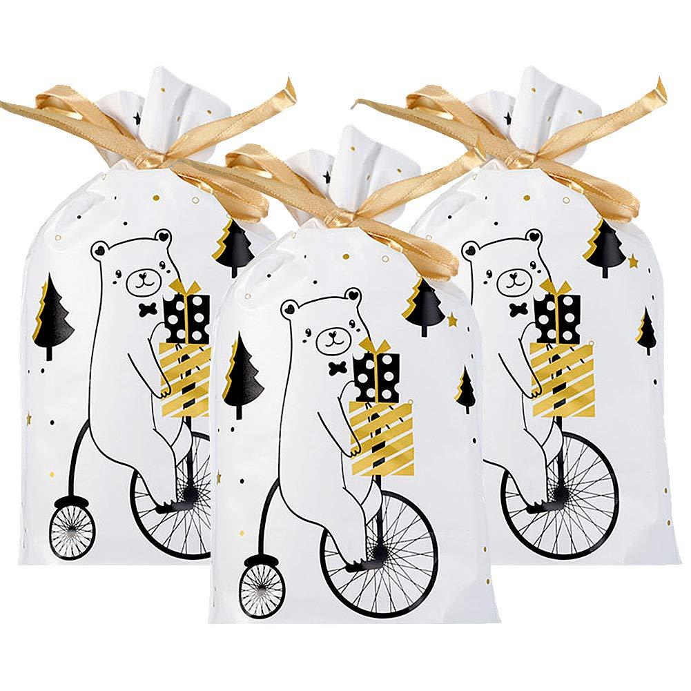 Pochette /à Bijoux pour Bonbon Biscuit Chocolat 50pcs Sacs /à cordonnet cadeaux Sacs /à bonbons de no/ël cadeau sacs poches de bijoux avec cordon pour la Fete de Mariage et Bricolage Artisanat