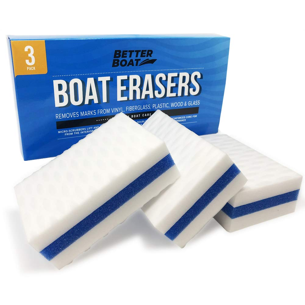 Premium Boat Scuff Erasers | Magic Boating Accessories for Cleaning Black Streak Deck Marks and More by Better Boat