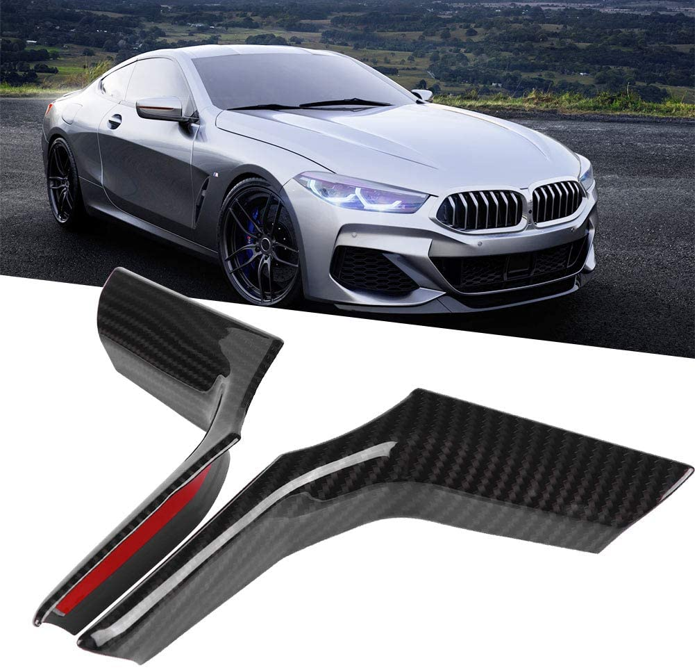 Cuque 2Pcs Carbon Fiber Style Car Steering Wheel Decoration Cover Trim for 5 Series G30 2017 2018