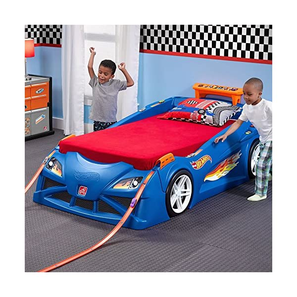 Step2 Hot Wheels Toddler to Twin Bed with Lights Vehicle 3