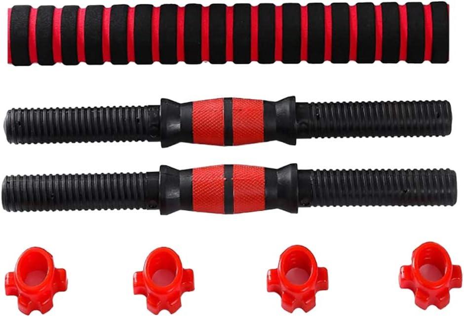AcamPTAR Ensemble dhalt/ères r/églables 2 barres de 40 cm et 1 barre de connexion de 40 cm pour salle de sport et maison