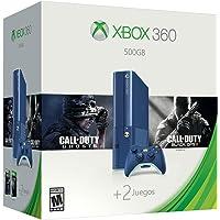 Consola Xbox 360 500 GB, azul, Bundle 2 Juegos de Call of Duty - Bundle Limited Edition
