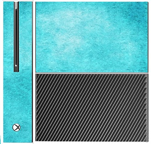 Price comparison product image Teal Ice Pattern Texture Background Xbox One Console Vinyl Decal Sticker Skin by Moonlight Printing