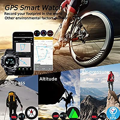 DTNO.I GPS Watch, Outdoor Sports Smart Watch with Pedometer, Altimeter, Barometer, Compass, Thermometer, Heart Rate Monitor, Sleep Monitor for Men and Women, Activity Tracker for Android and IOS