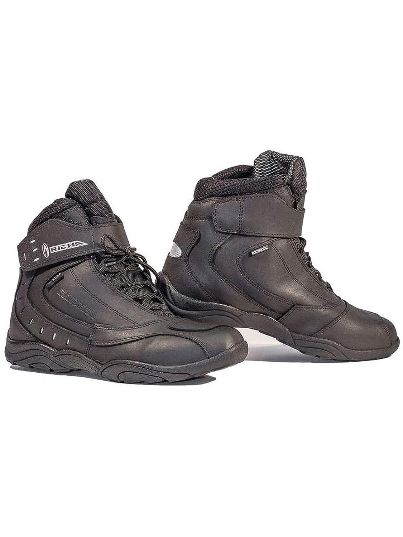 UK12 Richa Slick Waterproof Motorcycle Boots 46 Black