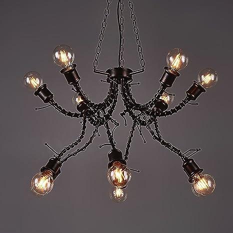 haixiang lámpara araña 12 brazos soporte lámpara de techo de ...