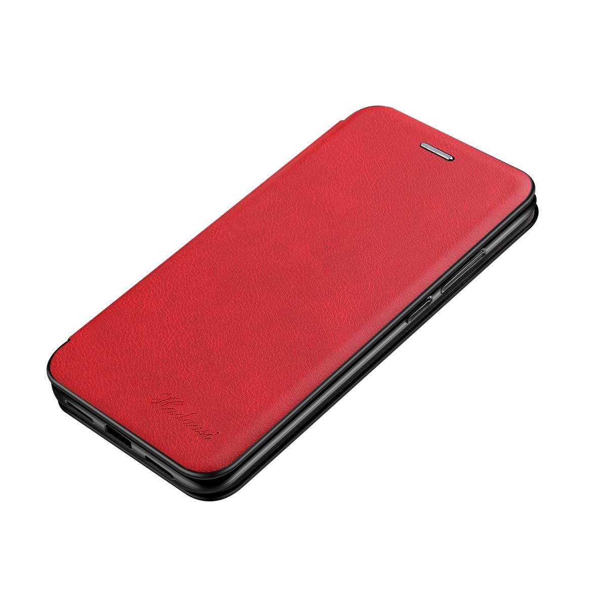 Suhctup Carcasa Compatible con iPhone 6S//iPhone 6 Flip Funda de Piel aut/éntica PU y TPU Silicona con funci/ón Soporte Cierre magn/ético Libro Bumper Suave antigolpes Case Wallet Shell